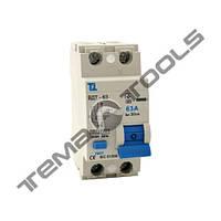 УЗО ВДТ-63 2P 16А 30мА з захистом від надструмів диференціальний автоматичний вимикач (автомат УЗО)
