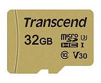 Карта памяти Transcend 32GB microSDHC C10 UHS-I U3 R95/W60MB/s + SD адаптер