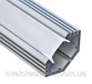 Алюминиевый профиль для светодиодной ленты Feron CAB272 с угловой фаской.