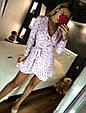 Платье мини рюши на запах длинный рукав микки маус, фото 8