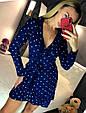 Платье мини рюши на запах длинный рукав микки маус, фото 9