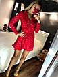 Платье мини рюши на запах длинный рукав микки маус, фото 3
