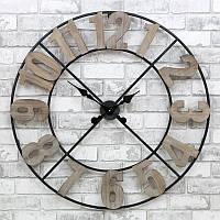 Часы настенные металлические в стиле лофт - Milano Wooden 80 cm