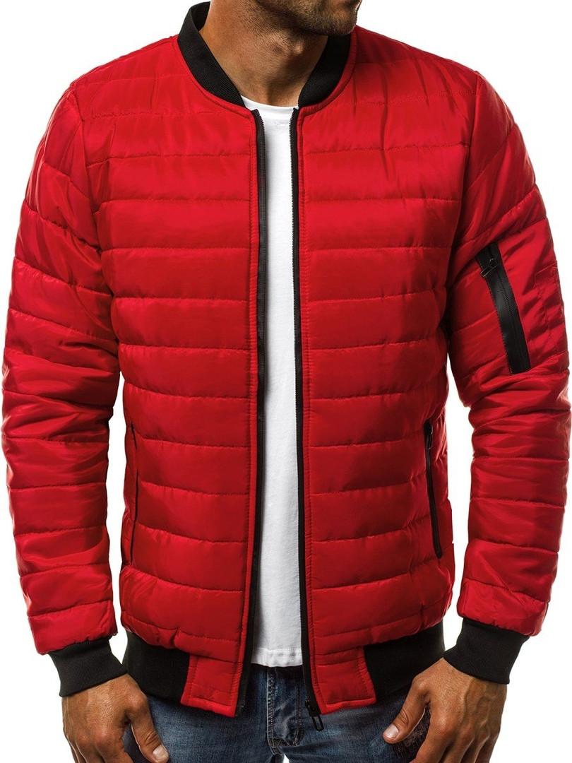 Куртка мужская (бомбер). Красного цвета. Куртка чоловіча. ТОП КАЧЕСТВО!!!