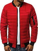Куртка мужская (бомбер). Красного цвета. Куртка чоловіча. ТОП КАЧЕСТВО!!!, фото 1