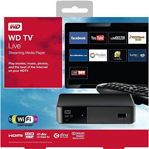 "Медиацентр Western Digital TV Life  Streaming (WDBGXT0000NBK-EESN TV) ""Over-Stock"" Б/У"
