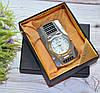 """Зажигалка """"Часы"""" в подарочной коробочке серебристые"""