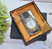 """Зажигалка """"Часы"""" в подарочной коробочке серебристые, фото 1"""