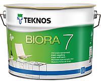 Фарба Teknos Біора 7 Б1 шовковисто-матова, 9,0 л