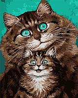Картина по номерам Семейное фото Коты (40 х 50 см, в коробке)