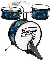 Барабанная установка + сидение First Act Discovery Black W/Blue Stars