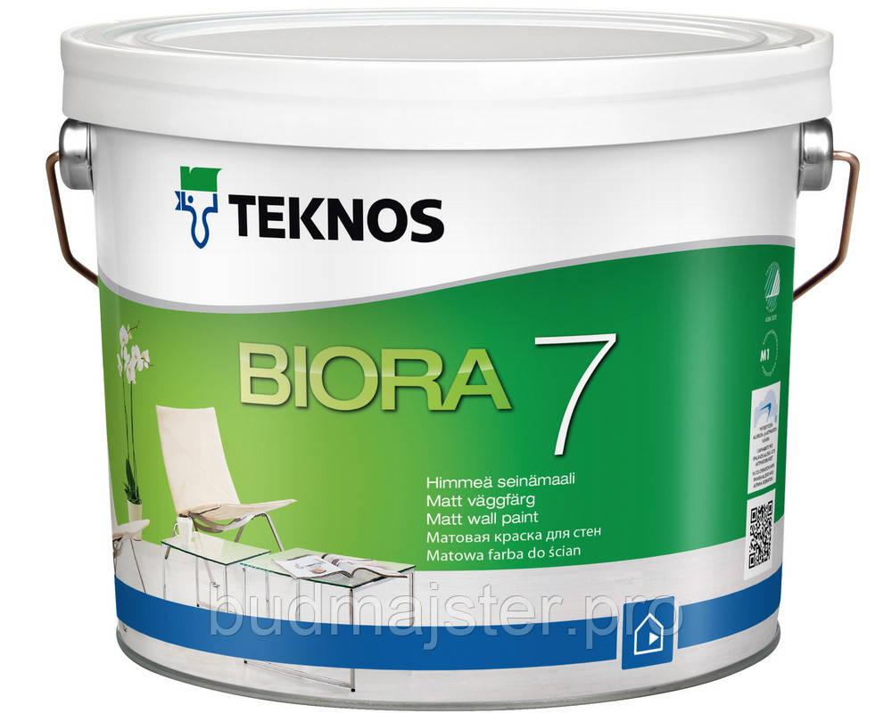 Фарба Teknos Біора 7 Б1 шовковисто-матова, 2,7 л