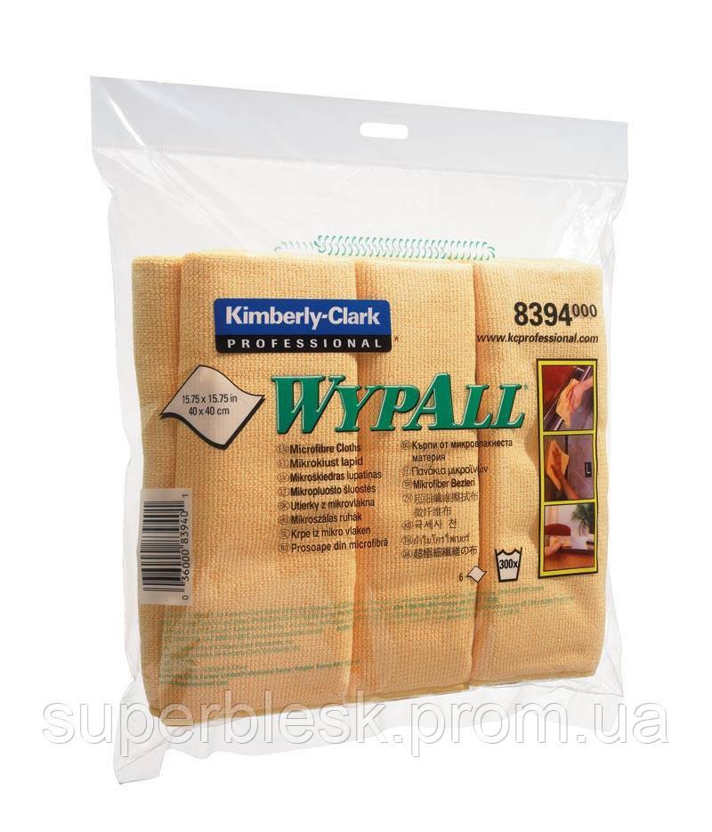 Протирочные салфетки из микрофибры WYPALL желтая 1шт