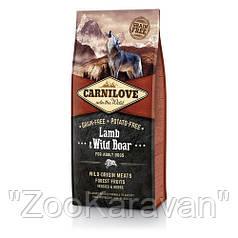Сухой корм для взрослых собак Carnilove Lamb & Wild Boar ягнёнок и дикий кабан 12 кг