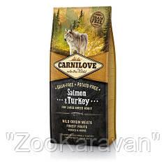 Сухой корм для взрослых собак Carnilove Salmon & Turkey Large Breed, 12 кг
