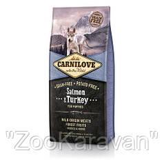 Сухой корм для щенков всех пород Carnilove Salmon & Turkey Puppy, 1,5 кг