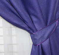 "Светонепроницаемая ткань блэкаут с фактурой ""Лен мешковина"". Высота 2,8м. Цвет фиолетовый. 321ш, фото 1"