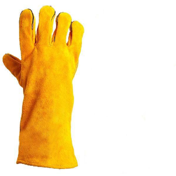 Захисні рукавиці (краги) виготовлені з ялової шкіри з налодонником СП-24