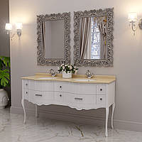 Тумба для ванной комнаты Marsan Angelique 1650 в цвете фасад золото/серебро