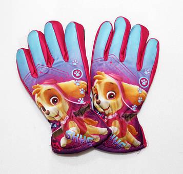 Перчатки для девочек не промокаемые, Щенячий патруль