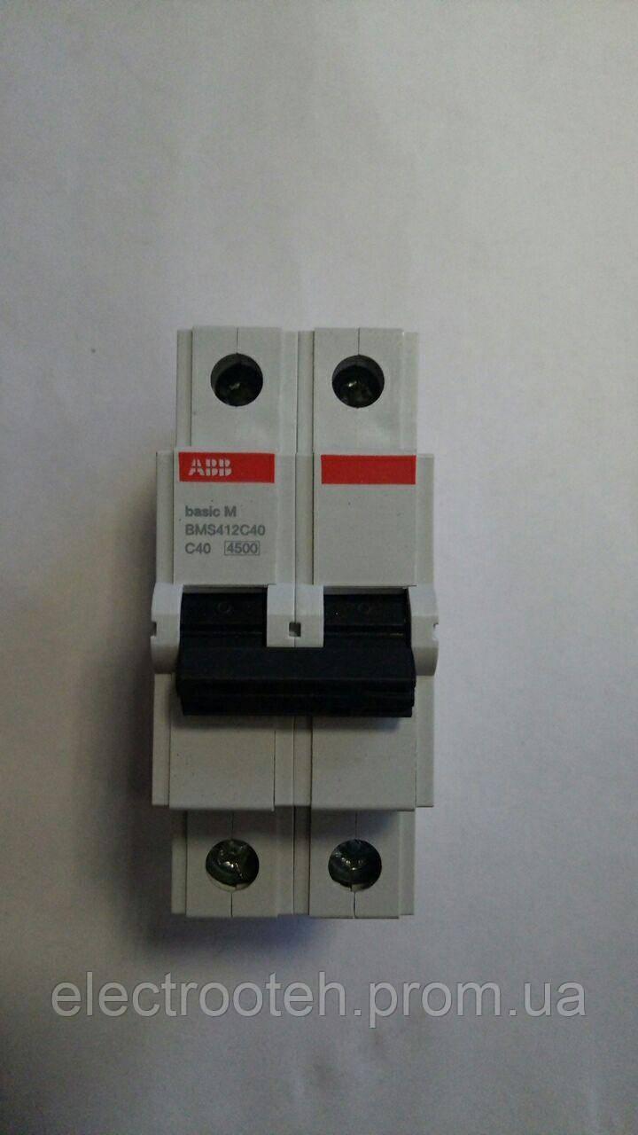 Автоматический выключатель ABB (2Р, 40А, C) 4.5кА