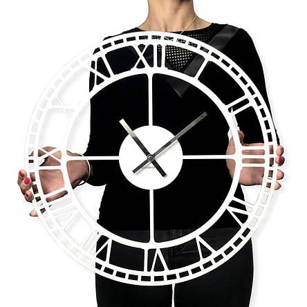 Часы настенные металлические в стиле лофт - Vintage White 60 cm, фото 2