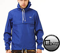 Синяя куртка ветровка анорак Fred Perry размер ХЛ!