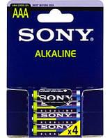 Батарейка ААА Sony LR 03 Alkaline 1x4 шт. мини пальчик щелочная