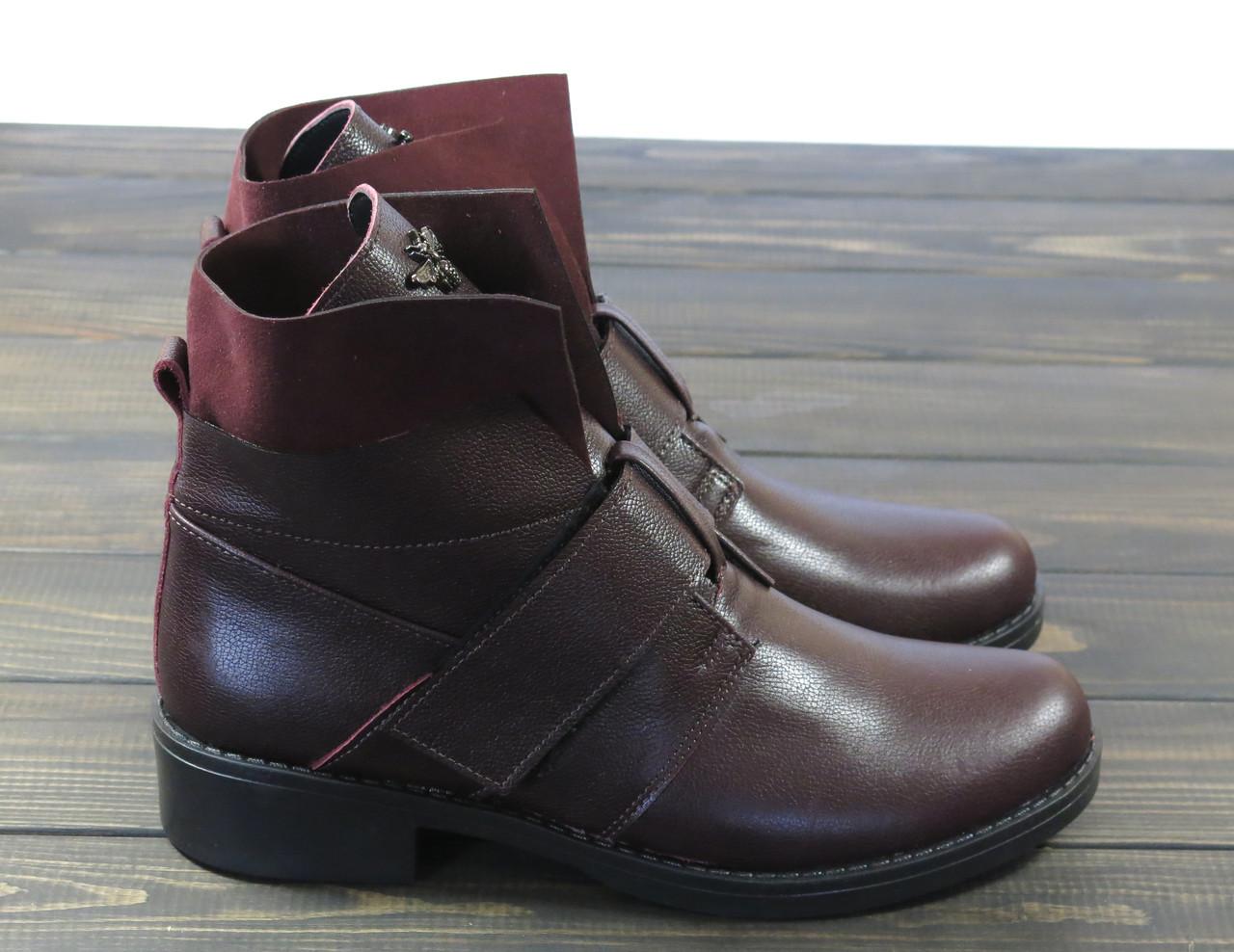 Жіночі модні черевики Lonza 302 BORDO розмір 36 23,5 см