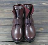 Жіночі модні черевики Lonza 302 BORDO розмір 36 23,5 см, фото 2