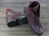 Жіночі модні черевики Lonza 302 BORDO розмір 36 23,5 см, фото 3