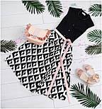 2044 платье Аликанте Принт, черный (44), фото 4