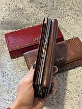 Кожаный бордовый кошелек «1087», фото 2