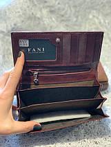 Кожаный кошелек шоколадного цвета «1088», фото 2