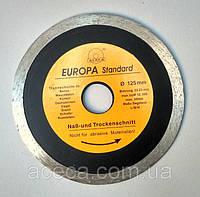 """Диск алмазный """"Evropa"""" 125 * 1.0 * 22.2 мм по плитке"""