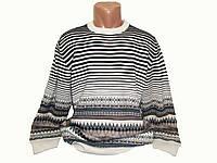 Мужской шерстяной тёплый свитер с орнаментом Yamak, Турция