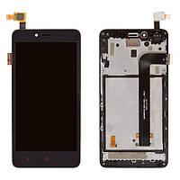 Дисплей для Xiaomi Redmi Note 2, Redmi Note 2 Prime (2015051), модуль (экран и сенсор), с рамкой, оригинал