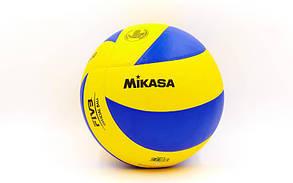 Мяч волейбол PU MIK VB-1846 MVA-330 (PU, №5, 5 сл., клееный)