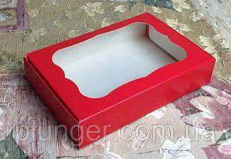 Коробка для печенья, пряников, с окном, 10 см х 15см х 3 см, мелованный картон