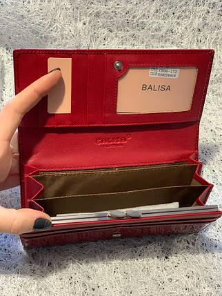 Бордовый лаковый кошелек «1089», фото 2