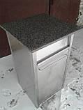 Урна промышленная из нержавеющей стали б/у, урна для кафе б у, нержавеющая урна б/у, фото 3