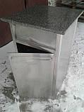 Урна промышленная из нержавеющей стали б/у, урна для кафе б у, нержавеющая урна б/у, фото 4