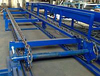 Ланцюговий двохрядний конвеєр, транспортер для дошки, кругляка