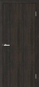 Дверное полотно Омис ПВХ венге глухое гладкое