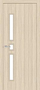 Комфорт дверное полотно остекленное дуб беленый