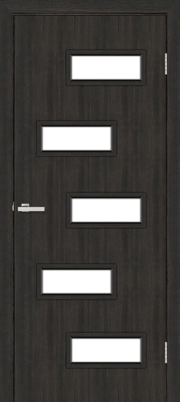 Этюд дверное полотно остекленное венге