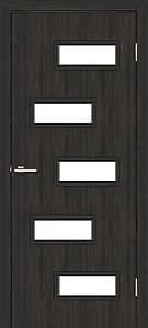 Дверное полотно Омис остекленное венге Этюд