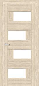 Дверное полотно остекленное Омис Дуб Беленый Домино 2