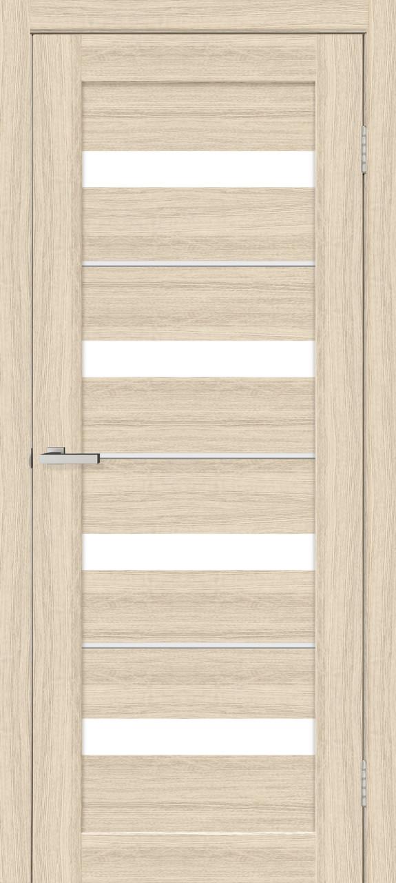 Двери межкомнатные со стеклом Омис Милано Дуб Беленый