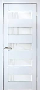 Дверное полотно ПВХ Омис со стеклом белые Форте лиана